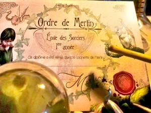 Diplôme de l'Ordre de Merlin