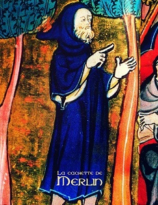 Merlin dans un manuscrit médiéval - fac-similé