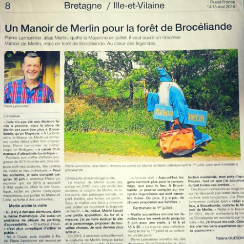 Ouest France du 14 mai 2016