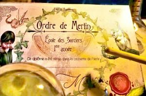 le diplôme de l'ordre de Merlin